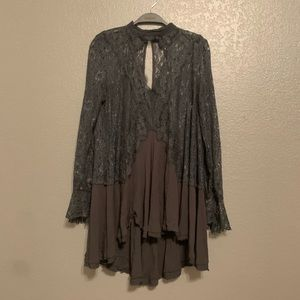 Free People Black Lace Coverup/Dress